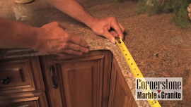 HOW DO I MEASURE MY CABINETS FOR A NEW STONE COUNTERTOP?